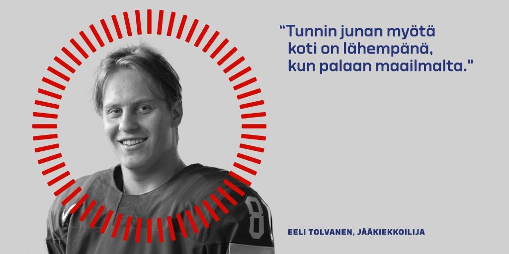 Eeli Tolvasen kommentti Tunnin junan puolesta.