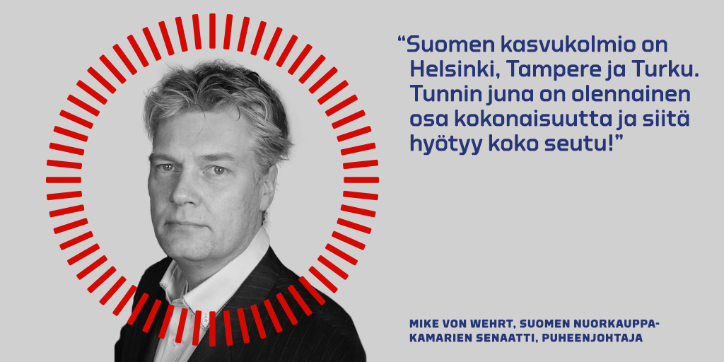 Mike von Wehrtin kommentti Tunnin junan puolesta.