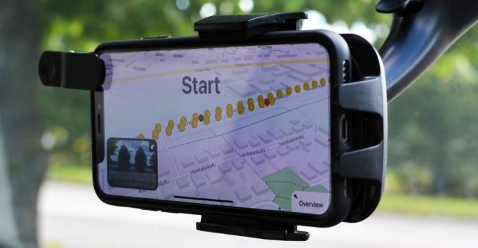 Tiestöä kartoittava mobiilipeli, kuva: Crowdchupa