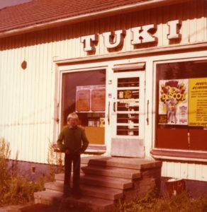 Osuusliike Tuen Vanjärven myymälä 1970-luvulla.