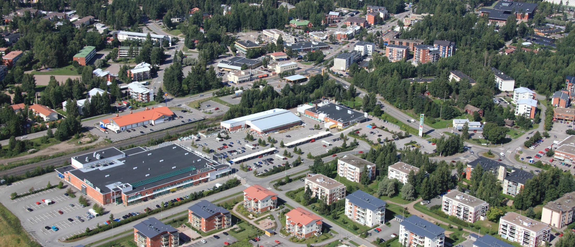 Viistokuva Nummela keskusta